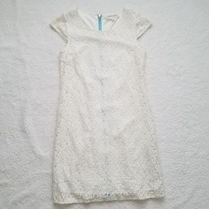 Francesca's Collections Cream Lace Dress Size M